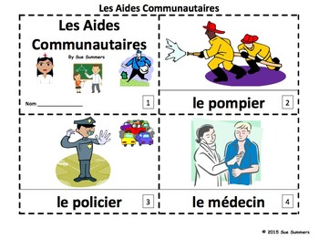 French Community Helpers 2 Emergent Readers - Aides Commun