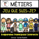 French Community Helpers PPT Game/ Métiers - Qui suis-je? Diaporama interactif