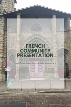 French Community Presentations