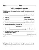 French Comparative and Superlative Quiz