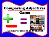 French Comparing Adjectives Game with TV shows