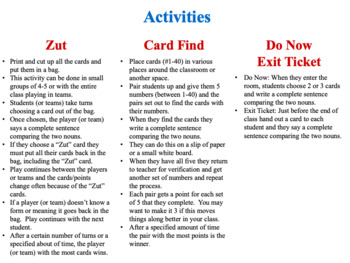 French Comparisons Speaking and Writing Activities (Zut Cards)