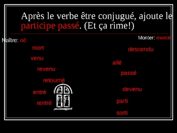 ~ French Compound Past with ETRE: Animated