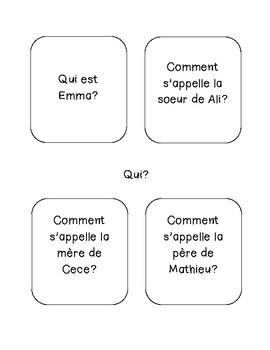 French Comprehension Activity - La famille