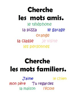 French Comprehension Strategies Posters