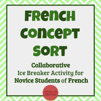 French Concept Sort [Cultural Activity, Great Icebreaker!]