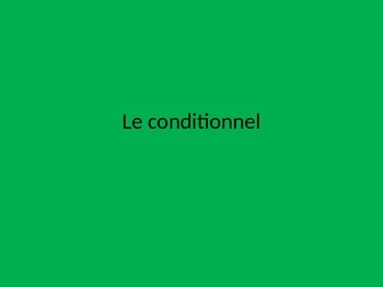 French Conditional Practice