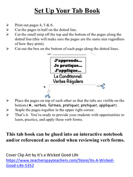 French Conditional (Regular Verbs) Tab Book