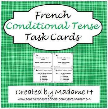 French Conditional Tense Task Cards