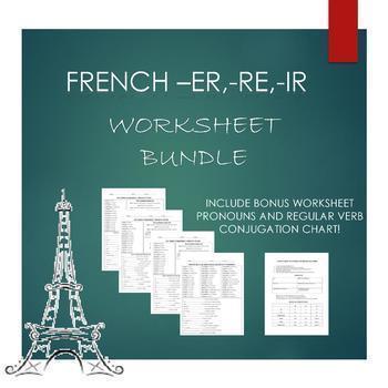 French- Conjugating Regular Verbs Bundle