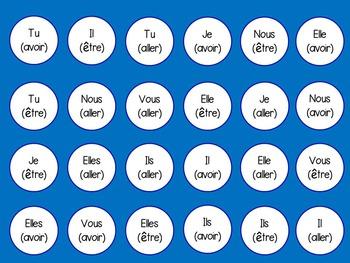 French Conjugation 4 in a Row / Puissance 4 de la Conjugaison