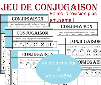 French Conjugation Game PRESENT - Make grammar revision more fun