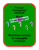 French Conjugation Imperative Christmas cooking FREE