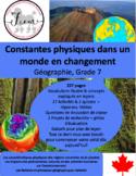 """French: """"Constantes physiques et monde en changement"""", Géo, Gr.7, 204 slides"""