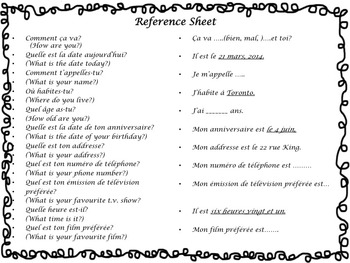 French Conversation Activity