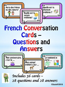 French – Conversation Cards – Questions and Answers.