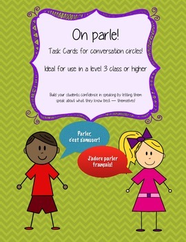 Conversation Prompts - French (Small / Large Group Speaking Activity)