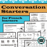 FRENCH Conversation Starters: 12 Illustrated Themes