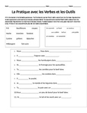 French Cooking Verbs and Kitchen Utensil Practice Homework
