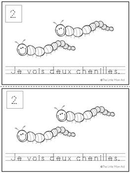 French Counting Activity - Je Peux Compter: Le Printemps (en Français)