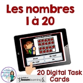 French Counting Digital Task Cards BOOM CARDS