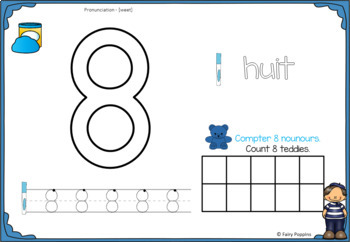 French Counting Mats & Number Activities (1 to 20)