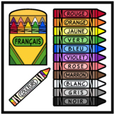 Crayons and Colors in FRENCH Printables