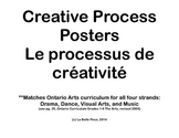 French Creative Process Anchor Cards: Music, Art, Dance, & Drama