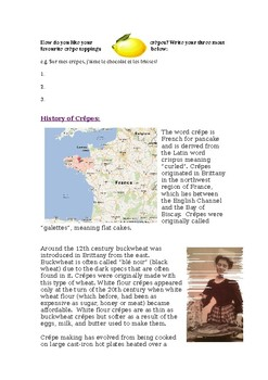 French Crepes - history and activities