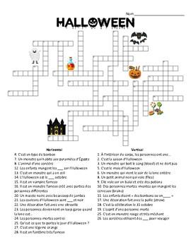French - Crossword - Halloween
