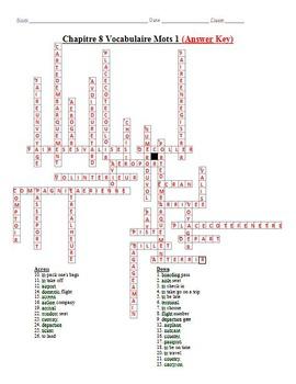 French Crossword Puzzle - Faire un Voyage