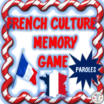 French Culture Memory Game ( WITH WORDS)
