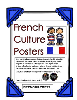 French Culture Posters Full Colour Ontario Core French