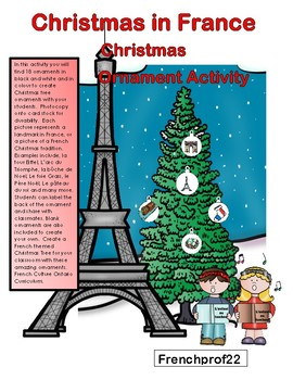 French Culture themed Christmas Ornament Activity  Noel