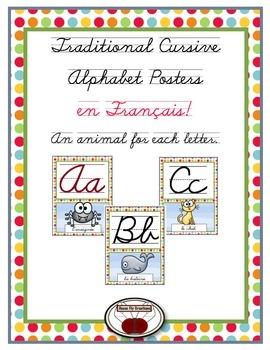 French Cursive Alphabet