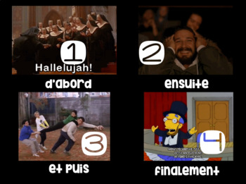 French DANS MA VILLE notes, ppt, quiz, homework 8 doc BUNDLE