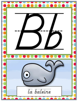 French D'Nealian Alphabet Posters