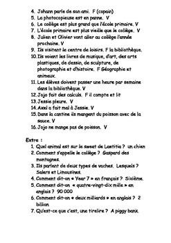 French Teaching Resources DVD/ Film Worksheet: School: Être et Avoir.