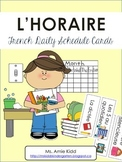 French Daily Schedule Cards