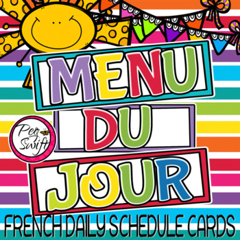 French Schedule Cards - Set 2