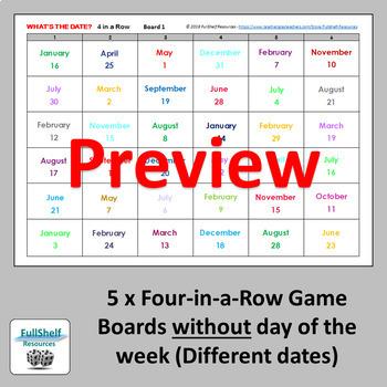 French Calendar Quelle est la Date Games (Printables)