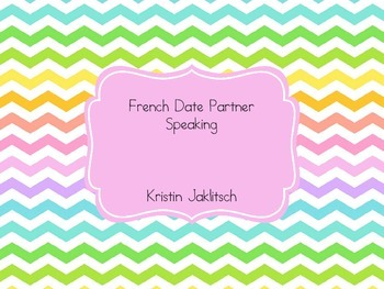 French Date Speaking Activity