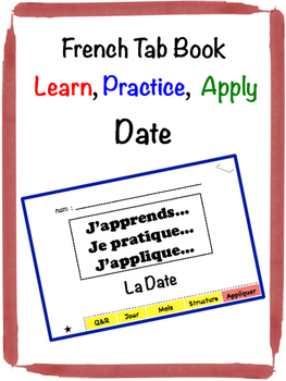 French Date Tab Book