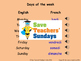 French Dates Lesson plan, PowerPoint (with audio), Cards and Activity