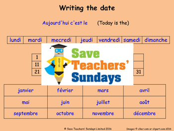 French Dates Lesson plan, PowerPoint (with audio), Cards a