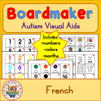 French Days, Months, Colours, Numbers - Boardmaker Visual Aids for Autism