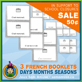 ⭐SALE⭐ French Days Months Seasons • 3 Reading & Writing Bo