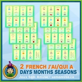 French Days Months Seasons J'ai/Qui a Games • 2 decks of c
