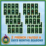 French Days Months Seasons J'ai/Qui a Games • 2 decks of c