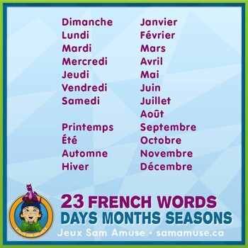 French Days Months Seasons Playing Cards • Card Game • Abstract Theme